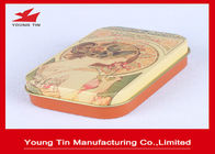 Vintage Design Printed Candy Gift Tins 0.23 MM Tinplate Material With Lid