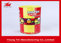 Cylinder Round Food Cookie Gift Tins , CMYK Printed Outside Glossy Finished Biscuit Tin Box