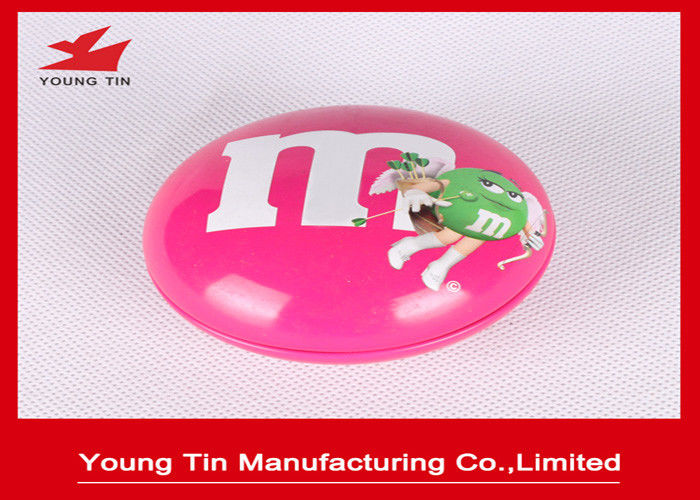 Bean Shaped Candy Packaging Promotional Tins , Custom Printing Metal Tin Containers