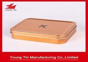 Empty Rectangle Mini Tin Box Plain Simple Color Printed For Toys Packaging